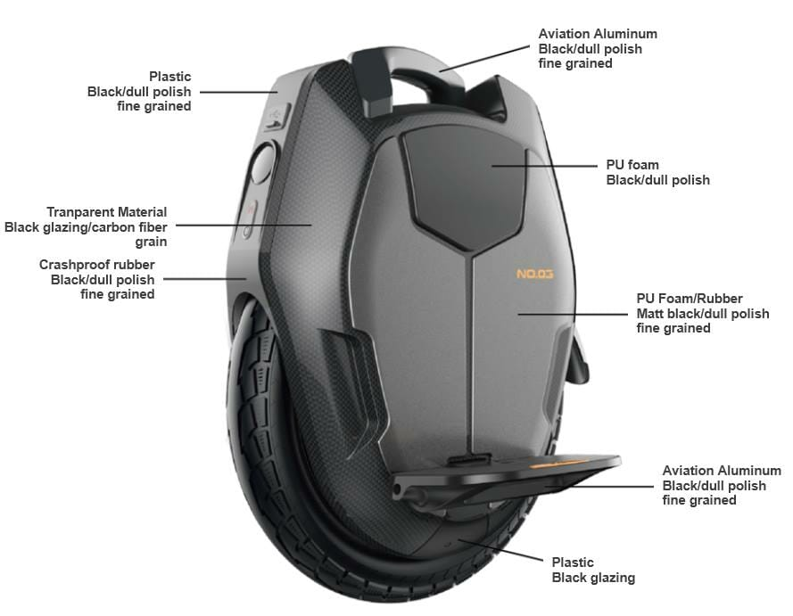 Kingsong KS-16X Electric Unicycle specification front