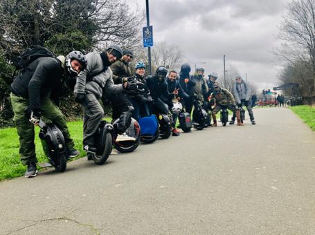 e-rides team going for a ride