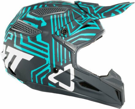 Leatt Helmet GPX 5.5 Composite V11 Grey Teal view from the right