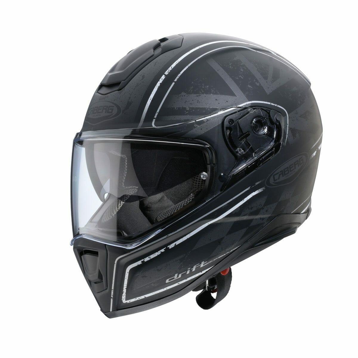 Caberg Drift Armour Black Silver left side view