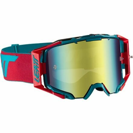 Leatt Velocity 6.5 Iriz Goggles Red-Teal Blue UC