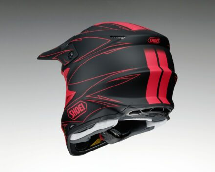 Shoei VFX-W Hectic TC1 Helmet view from the bottom left corner