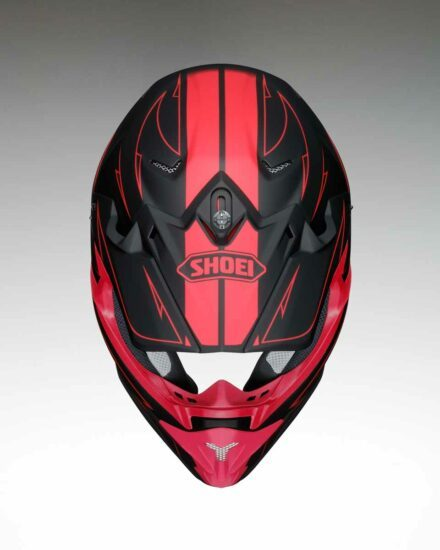Shoei VFX-W Hectic TC1 Helmet view from the top
