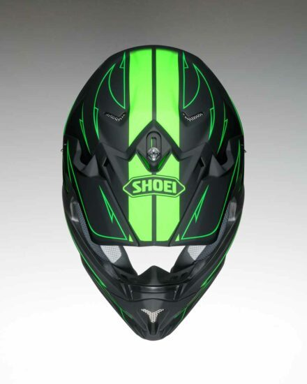 Shoei VFX-W Hectic TC4 Helmet view from the top