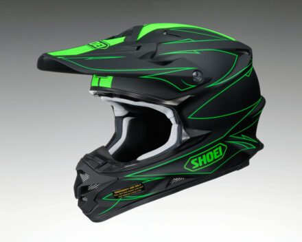 Shoei VFX-W Hectic TC4 Helmet view from the left