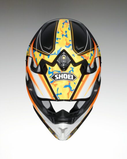 Shoei VFX-W Turmoil TC8 Helmet view from the top