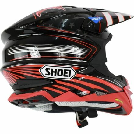 Shoei VFX-WR Grant3 TC1 Red Helmet view from right side