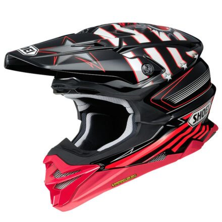 Shoei VFX-WR Grant3 TC1 Red Helmet view from left