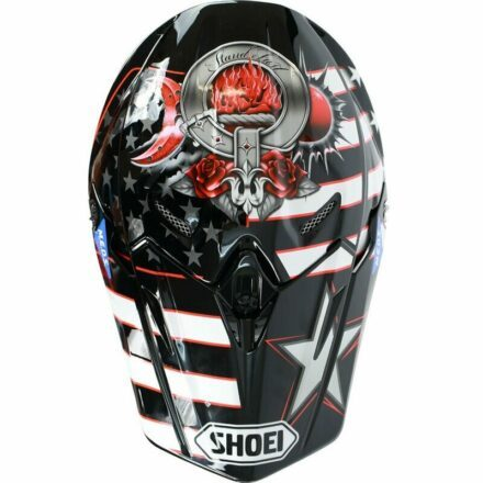 Shoei VFX-WR Grant3 TC1 Red Helmet view from top