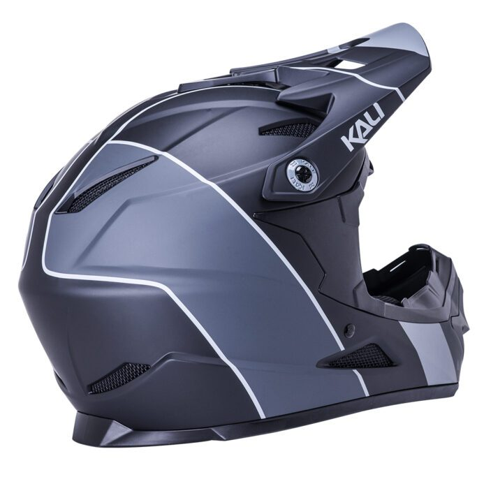 kali-Zoka-helmet-Stripe-Mat-Black-Grey-back-view