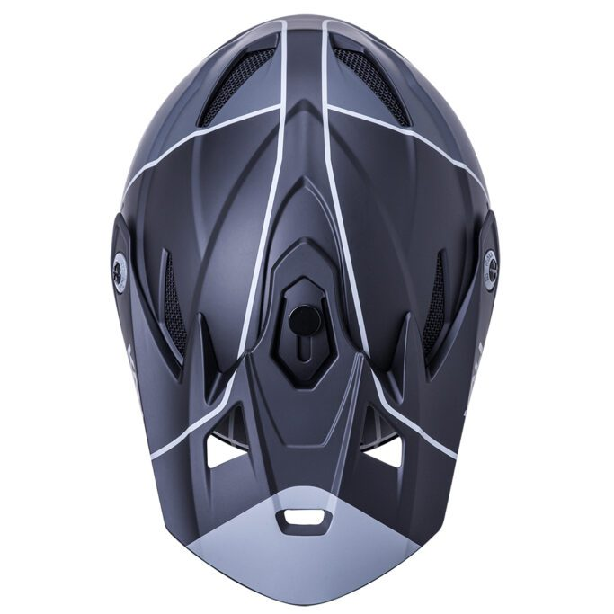 kali-Zoka-helmet-Stripe-Mat-Black-Grey-top-view